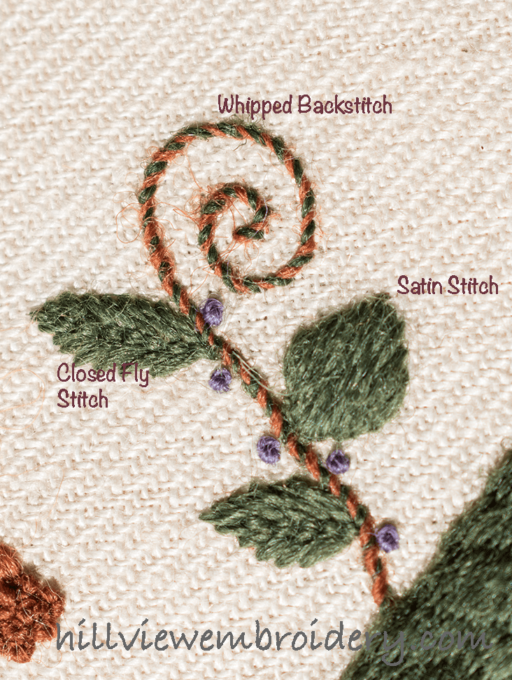 Jacobean Crewelwork Assessment And Comments Hillview Embroidery